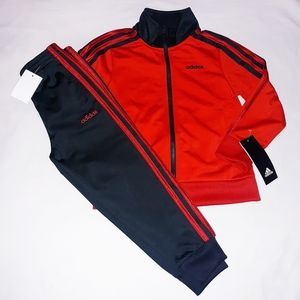 Adidas Boys Toddler 2pc Warmer Track Suit Set